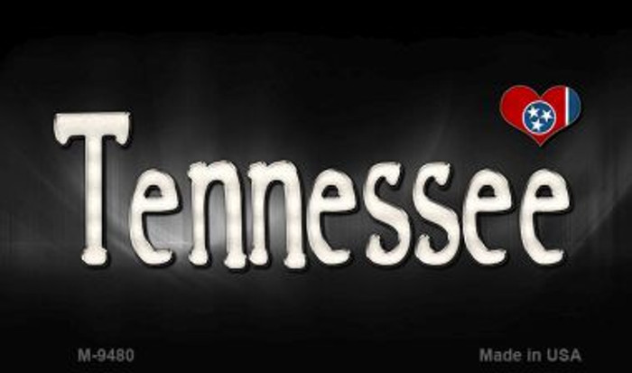 Tennessee Flag Script Novelty Metal Magnet