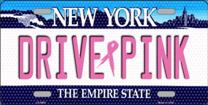 Drive Pink New York Novelty Metal License Plate