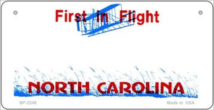 North Carolina Novelty State Background Bicycle License Plate BP-2248