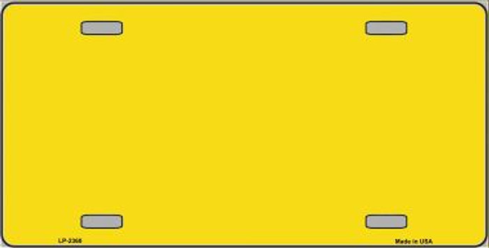 Yellow Solid Background Metal Novelty License Plate