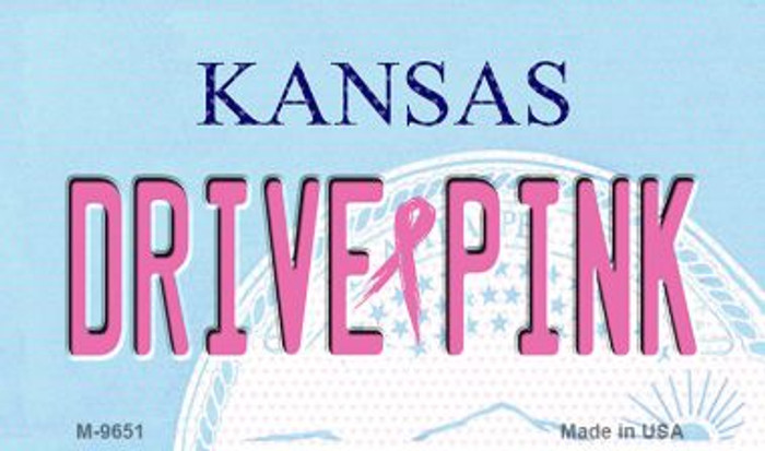 Drive Pink Kansas Novelty Metal Magnet