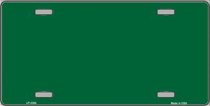 Green Solid Background Metal Novelty License Plate