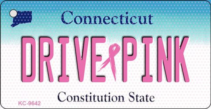Drive Pink Connecticut Novelty Key Chain