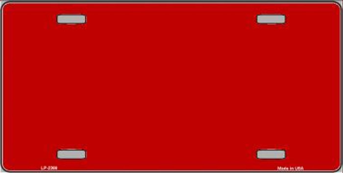 Red Solid Background Metal Novelty License Plate