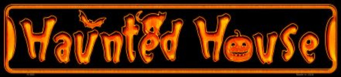 Haunted House Novelty Metal Small Street Sign
