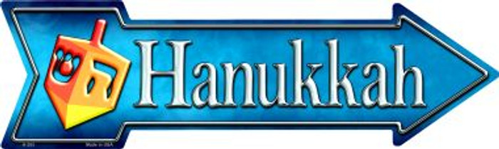 Hanukkah Novelty Metal Arrow Sign