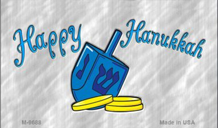 Happy Hanukkah Dreidel Novelty Metal Magnet