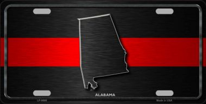 Alabama Thin Red Line Novelty Metal License Plate