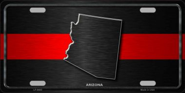 Arizona Thin Red Line Novelty Metal License Plate