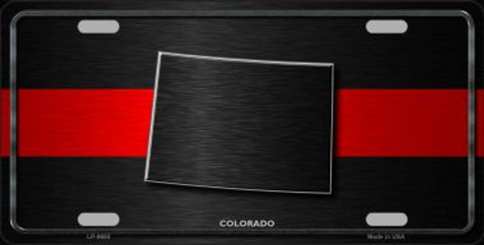 Colorado Thin Red Line Novelty Metal License Plate