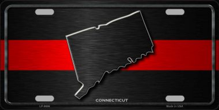 Connecticut Thin Red Line Novelty Metal License Plate
