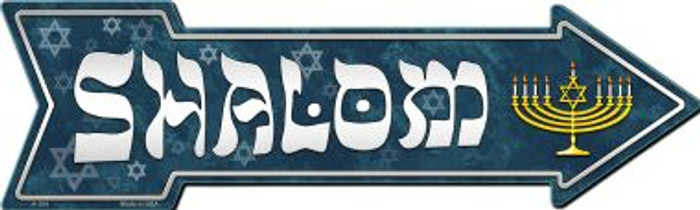 Shalom Novelty Metal Arrow Sign