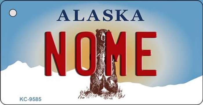 Nome Alaska State Background Novelty Key Chain