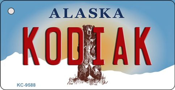 Kodiak Alaska State Background Novelty Key Chain