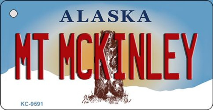 Mt McKinley Alaska State Background Novelty Key Chain