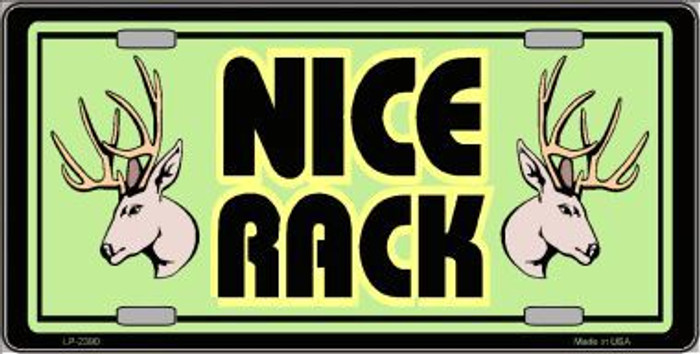 Nice Rack Metal Novelty License Plate
