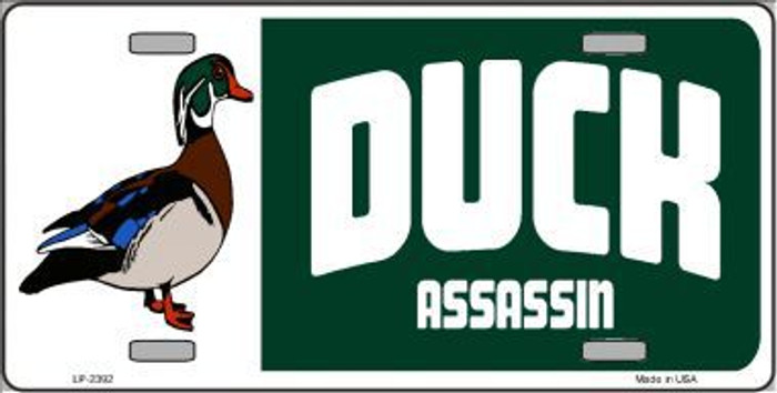 Duck Assassin Metal Novelty License Plate