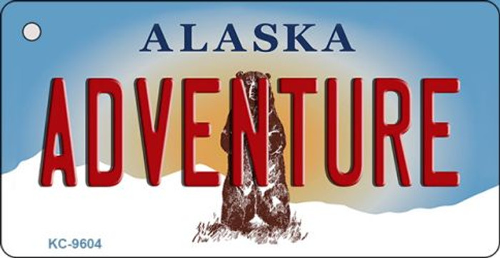 Adventure Alaska State Background Novelty Key Chain