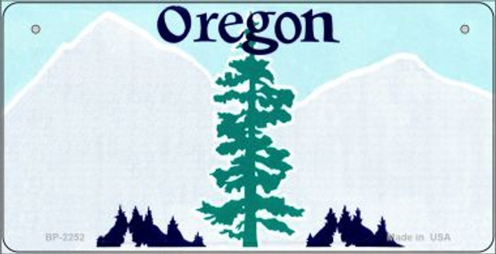 Oregon Novelty State Background Bicycle License Plate