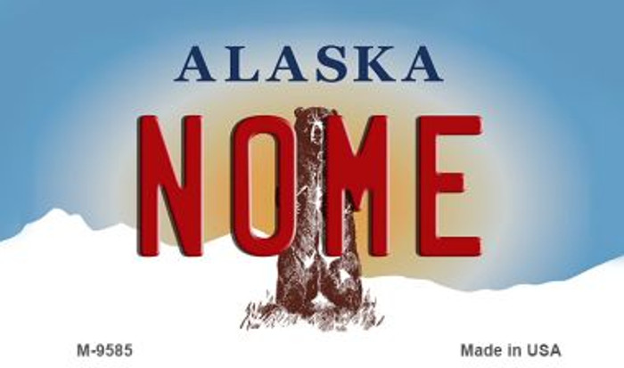 Nome Alaska State Background Novelty Metal Magnet