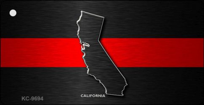 California Thin Red Line Novelty Metal Key Chain