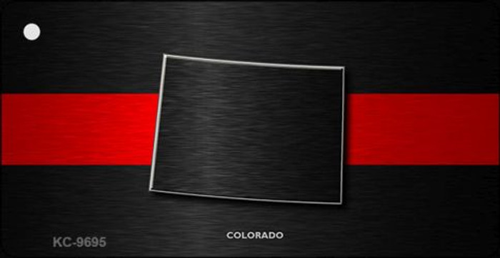 Colorado Thin Red Line Novelty Metal Key Chain