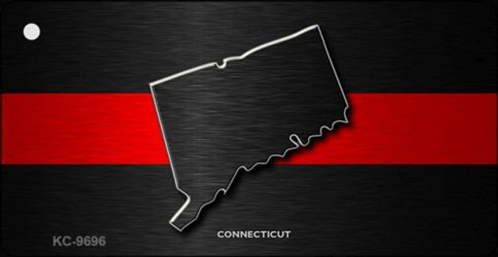 Connecticut Thin Red Line Novelty Metal Key Chain