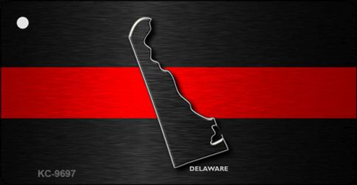 Delaware Thin Red Line Novelty Metal Key Chain