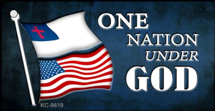 One Nation Under God Novelty Metal Key Chain