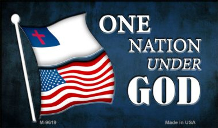 One Nation Under God Novelty Metal Magnet
