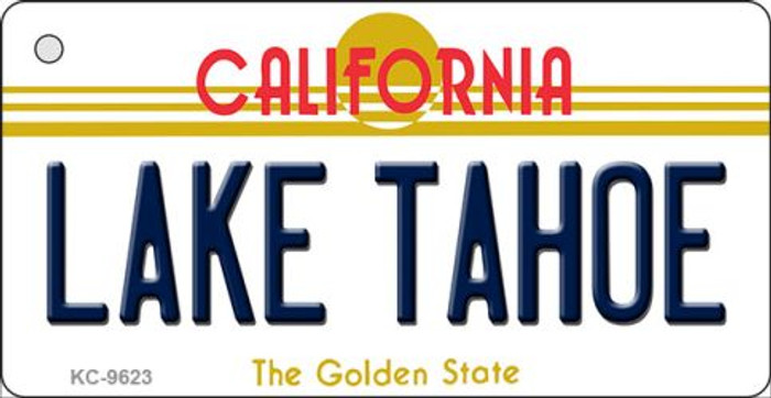 Lake Tahoe California Background Novelty Metal Key Chain