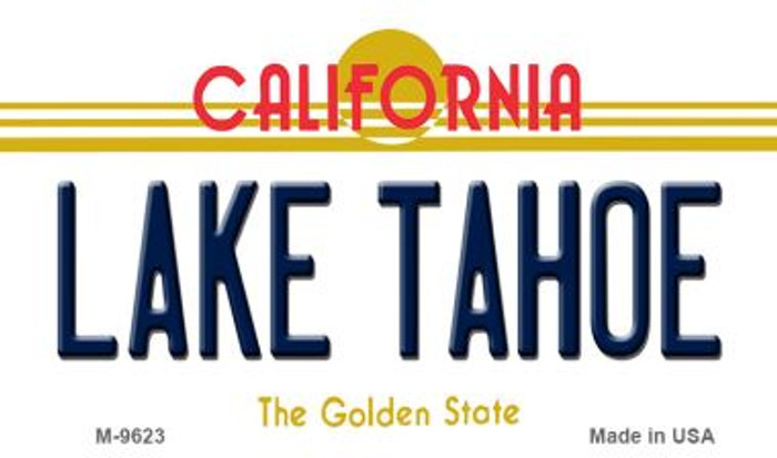 Lake Tahoe California Background Novelty Metal Magnet