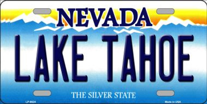 Lake Tahoe Nevada Background Novelty Metal License Plate