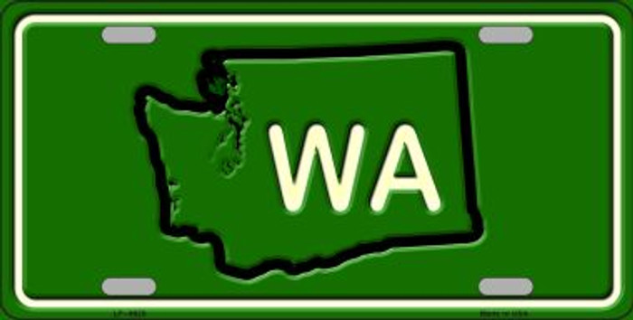 WA State Novelty Metal License Plate