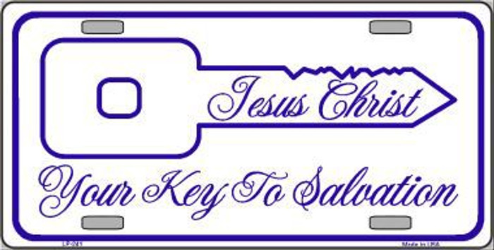 Your Key To Salvation Metal Novelty License Plate
