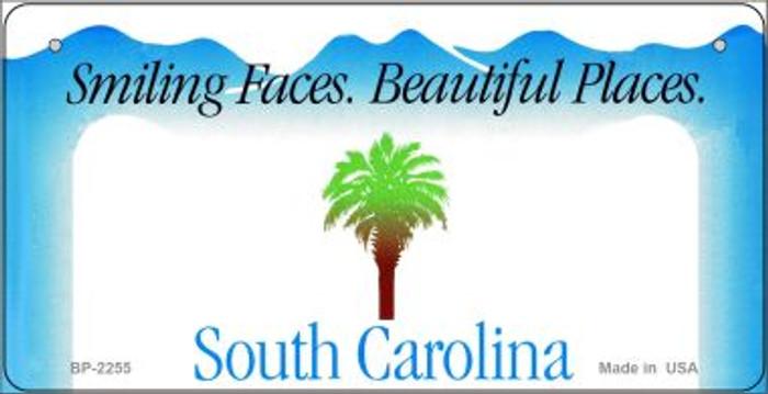 South Carolina Novelty State Background Bicycle License Plate