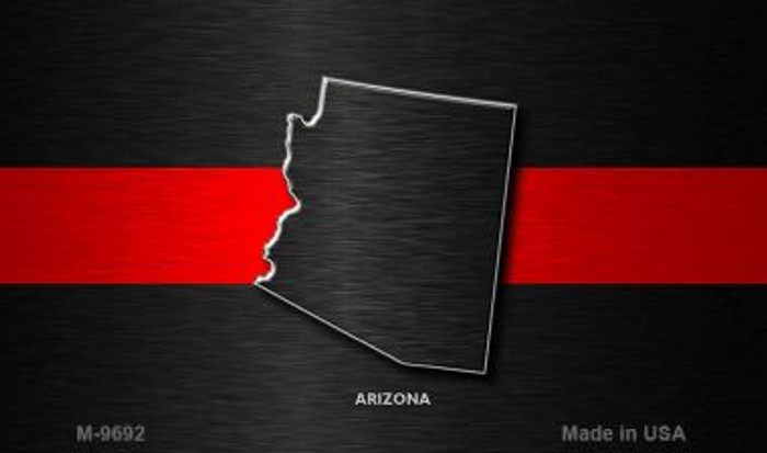 Arizona Thin Red Line Novelty Metal Magnet