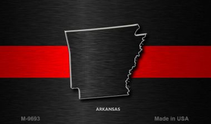 Arkansas Thin Red Line Novelty Metal Magnet