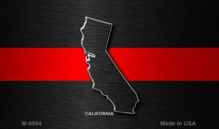 California Thin Red Line Novelty Metal Magnet
