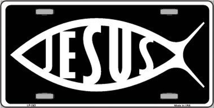 Jesus Fish Metal Vanity Novelty License Plate
