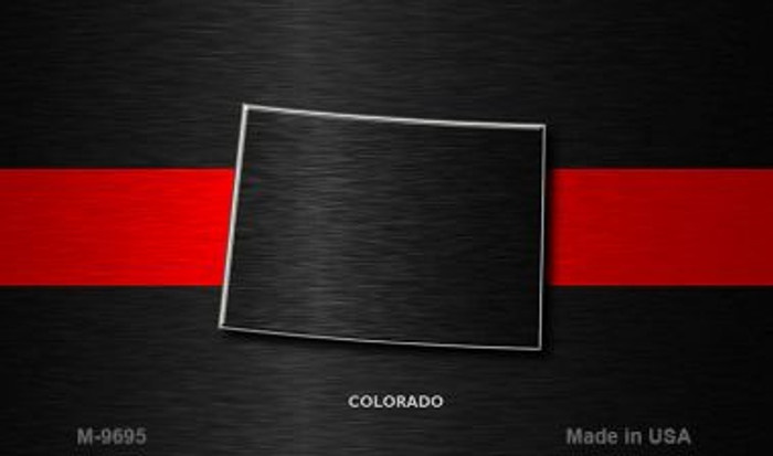 Colorado Thin Red Line Novelty Metal Magnet