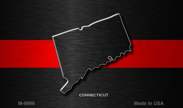 Connecticut Thin Red Line Novelty Metal Magnet