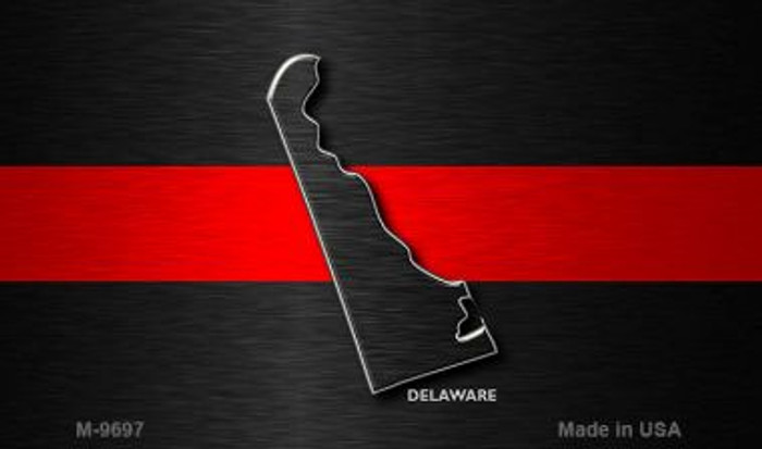 Delaware Thin Red Line Novelty Metal Magnet