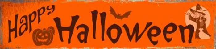 Happy Halloween Novelty Metal Mini Street Sign