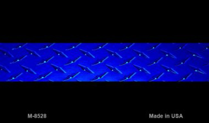 Police Diamond Thin Blue Line Novelty Metal Magnet