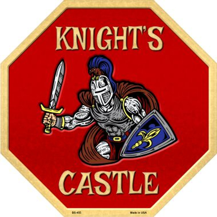 Knights Castle Metal Novelty Stop Sign
