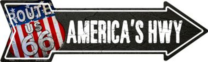 Americas Hwy Novelty Metal Arrow Sign