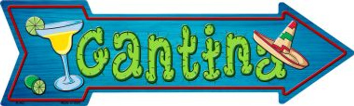 Cantina Novelty Metal Arrow Sign