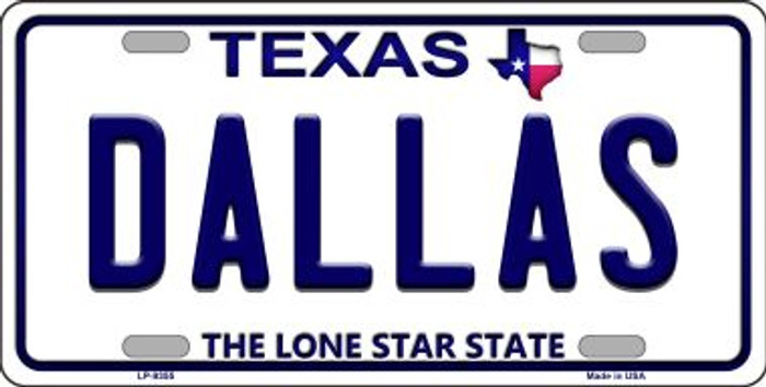 Dallas Texas Background Novelty Metal License Plate