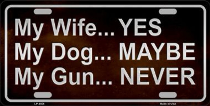 My Gun Novelty Metal License Plate